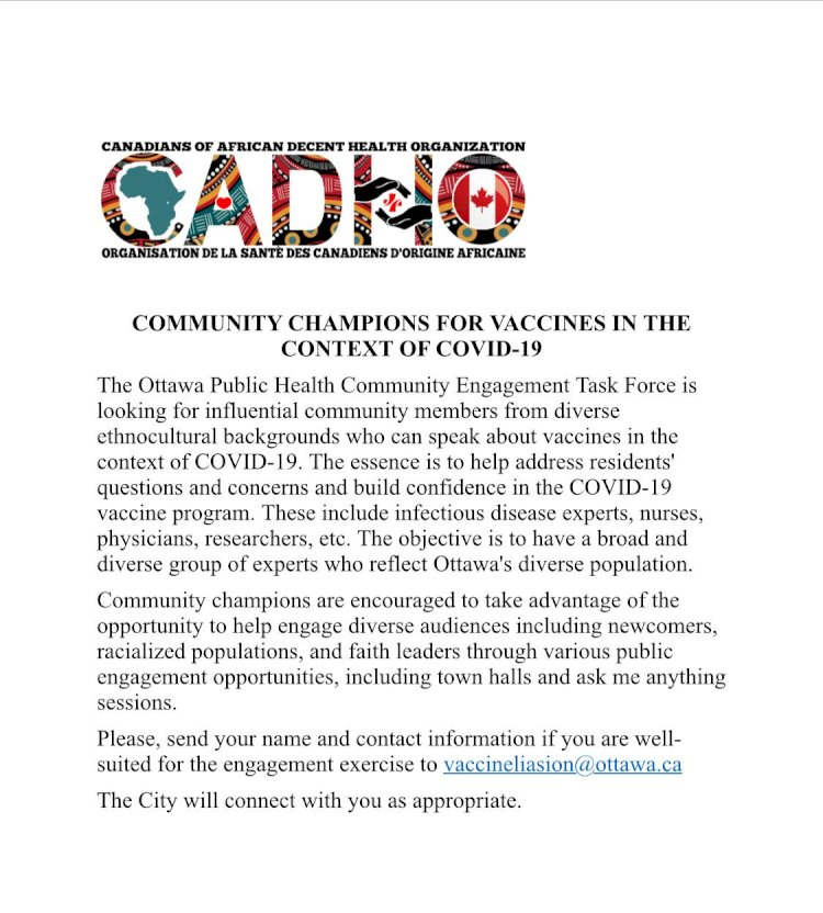 Community Champions For Vaccines  in  the  Context of COVID-19