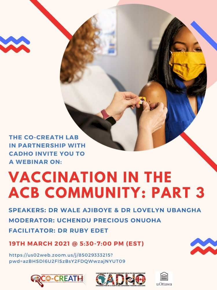 Vaccination in the ACB Community : Part 3