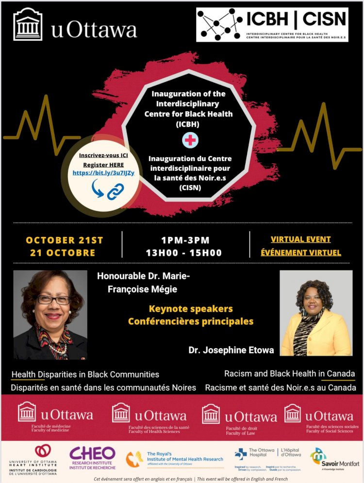 Launch of the Interdisciplinary Centre for Black Health (ICBH)